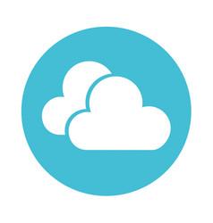 Blue clouds cartoon vector