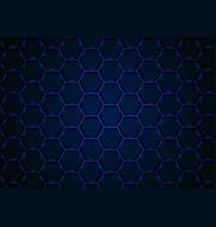 blue hexagonal 3d mesh background vector image