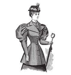 Breasted coat is a late 19th century design vector