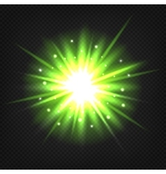 Bright green explosion vector