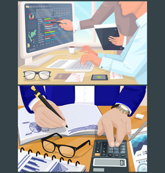 Business atmosphere collection vector