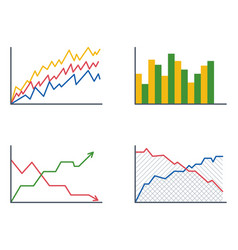 Business data graph analytics elements bar pie vector