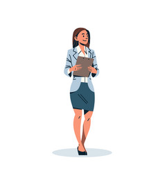 businesswoman holding checklist business woman vector image