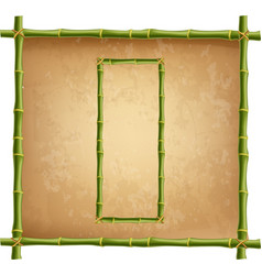 capital letter o made of green bamboo sticks on vector image