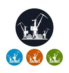Cargo cranes iconlogistics icon vector image