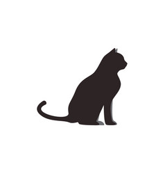 cat animal icon design template isolated vector image