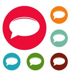chat icons circle set vector image