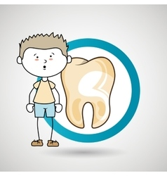 child sick tooth isolated icon design vector image