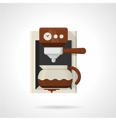 Coffee machine flat color icon vector image
