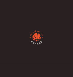 creative logo basketball and the image of an vector image