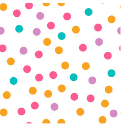 Cute circle seamless pattern on white background vector