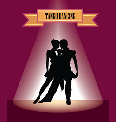 dancing club poster couple dancing beautiful vector image