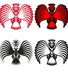 Eagle symbols and tattoo vector image