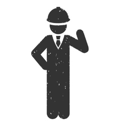 Engineer Icon Rubber Stamp vector