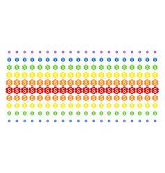 Financial settings gear shape halftone spectrum vector