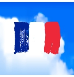 Flag of France against the sky vector image