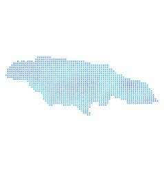 Freeze jamaica map vector