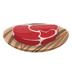 fresh meat steak on white background vector image