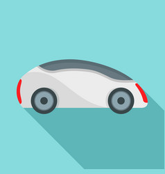 futuristic driverless car icon flat style vector image