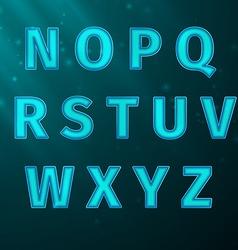 Glow Text vector image