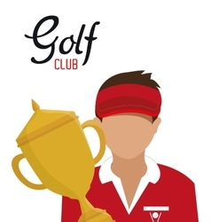 golf club golfer avatar vector image