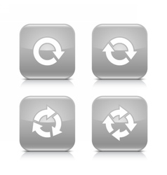 Gray arrow refresh reload rotation repeat icon vector