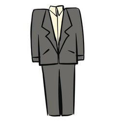 gray man suit on white background vector image