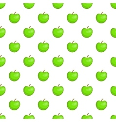 Green apple pattern cartoon style vector