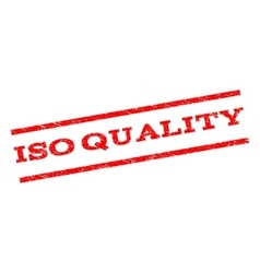 ISO Quality Watermark Stamp vector