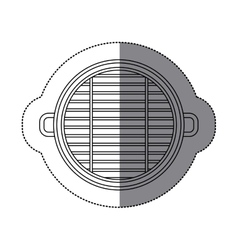 Isolated grill design vector