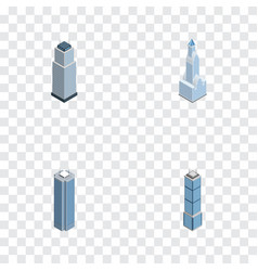 Isometric skyscraper set of cityscape tower vector