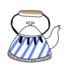 Kettle teapot on a white background vector