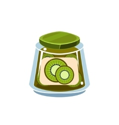 Kiwi Jam In Transparent Jar vector image vector image