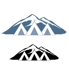 Logos of wigwams vector
