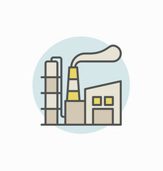 manufacturing plant colorful icon vector image