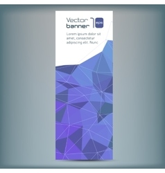 Modern banner with blue polygonal vector image