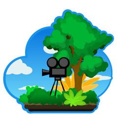 Nature camera vector