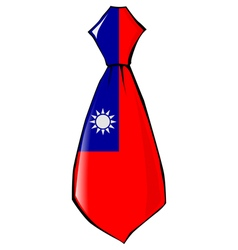 Necktie in national colours of Taiwan vector