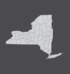 New york and its counties vector