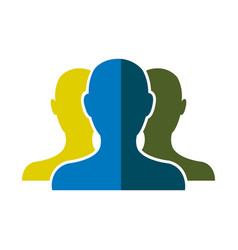people community network team web shadow vector image