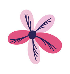 Pink flower decoration nature isolated design icon vector