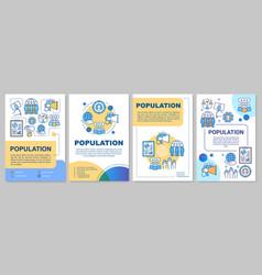 Population brochure template flyer booklet vector