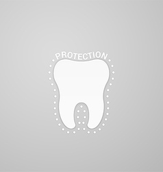 Protection tooth vector