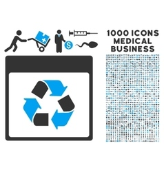 Recycle Calendar Page Icon With 1000 Medical vector