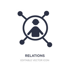 relations icon on white background simple element vector image