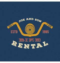 Retro Bike Rental Label or Logo Design vector