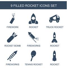 Rocket icons vector
