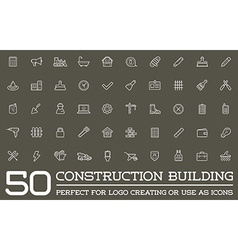 Set construction building icons home and repair vector