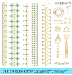 Set geometric hipster shapes and vector