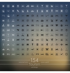 Set of tourism icons vector image